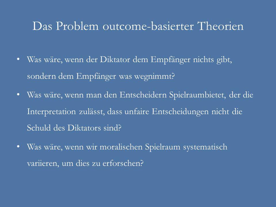 Das Problem outcome-basierter Theorien