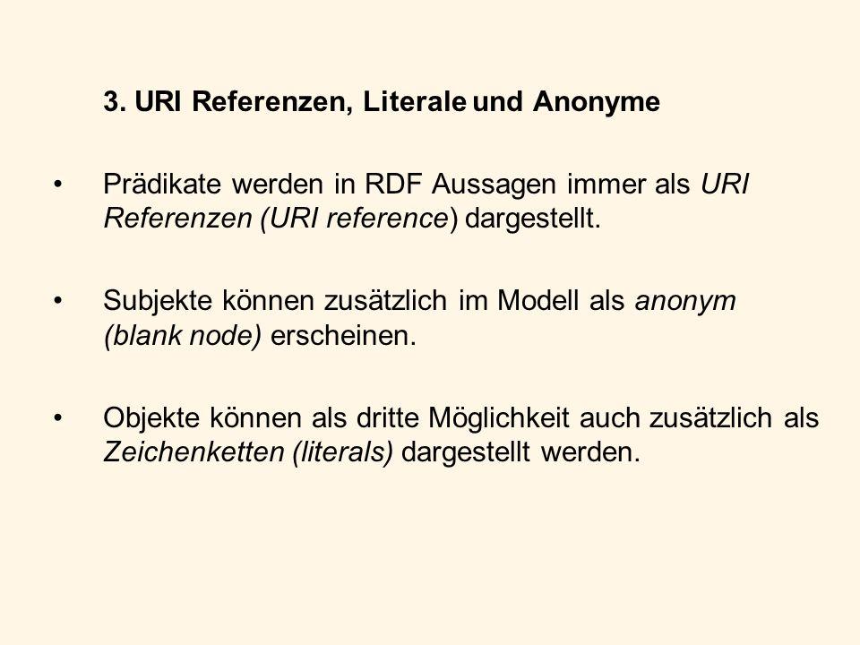 3. URI Referenzen, Literale und Anonyme