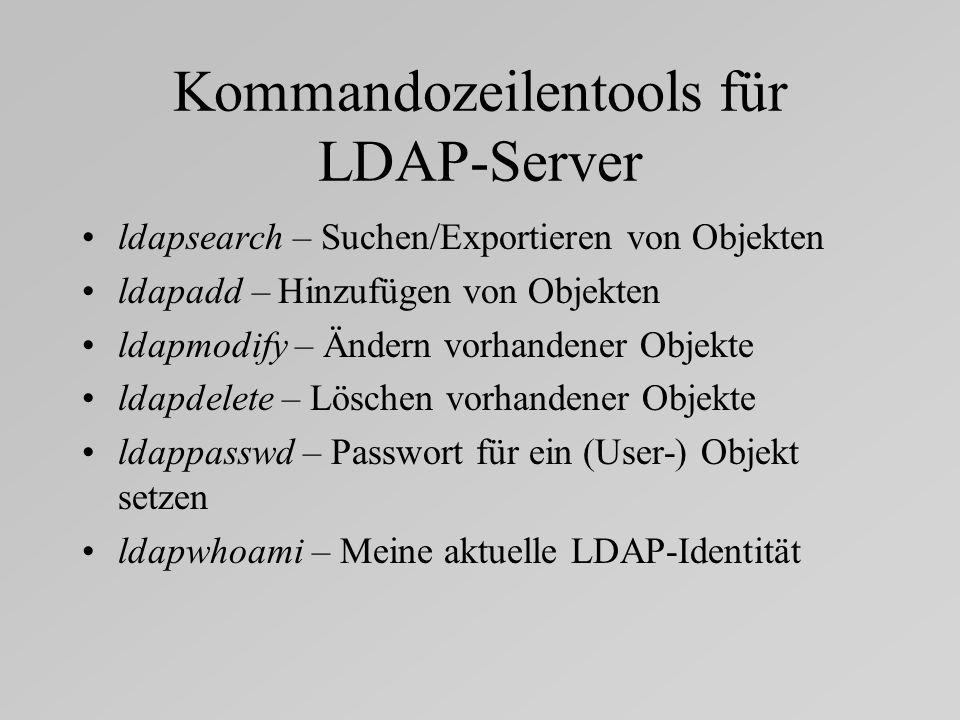 Kommandozeilentools für LDAP-Server