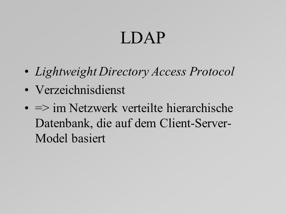 LDAP Lightweight Directory Access Protocol Verzeichnisdienst