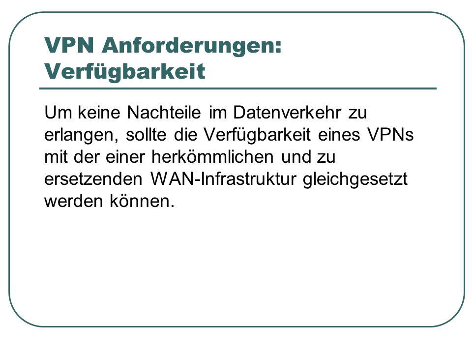VPN Anforderungen: Verfügbarkeit