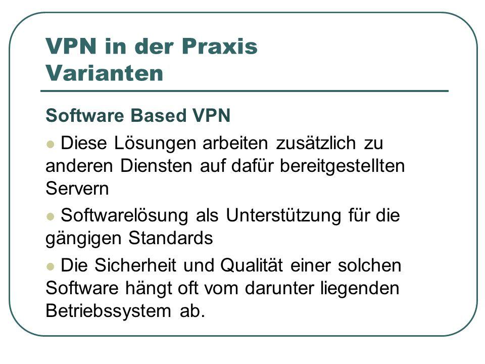 VPN in der Praxis Varianten