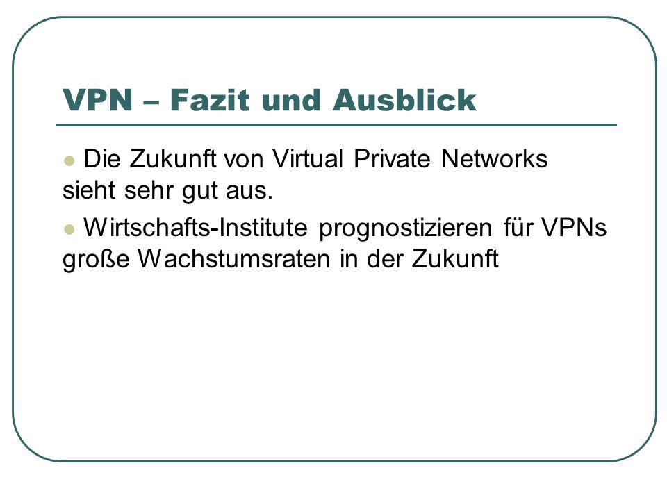 VPN – Fazit und Ausblick