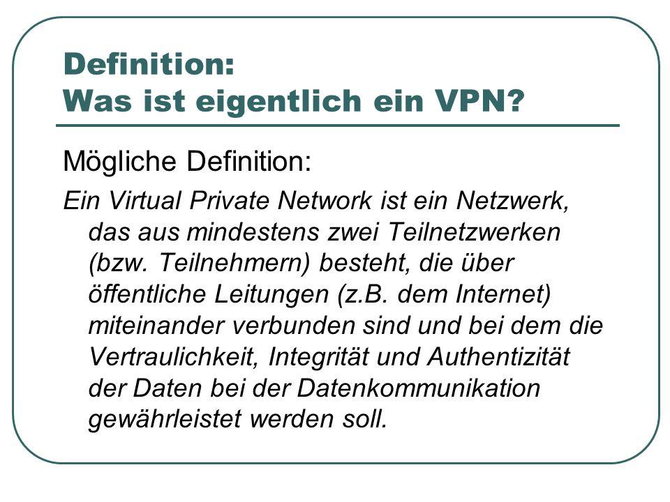 Definition: Was ist eigentlich ein VPN
