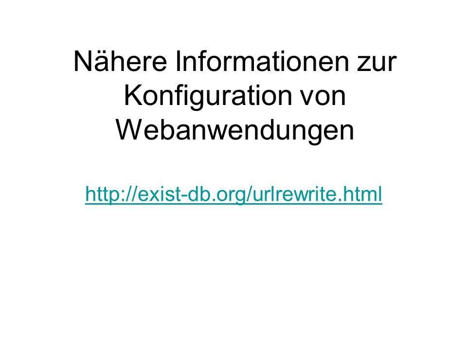 Nähere Informationen zur Konfiguration von Webanwendungen