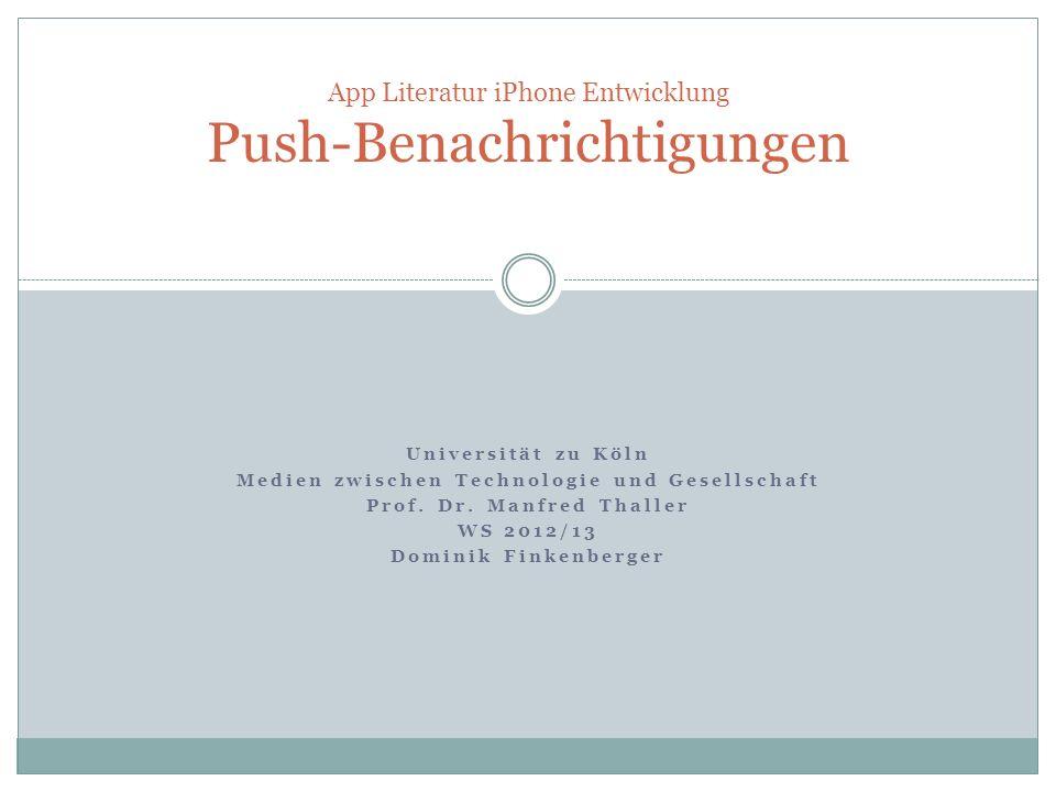 App Literatur iPhone Entwicklung Push-Benachrichtigungen