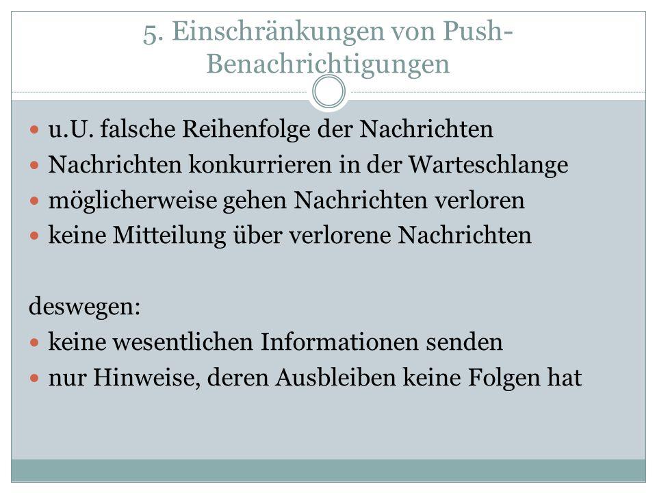 5. Einschränkungen von Push-Benachrichtigungen