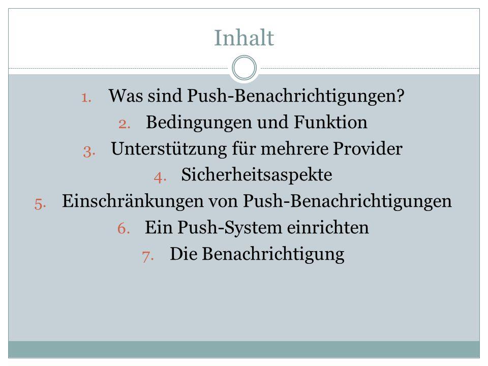 Inhalt Was sind Push-Benachrichtigungen Bedingungen und Funktion