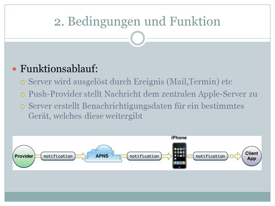 2. Bedingungen und Funktion