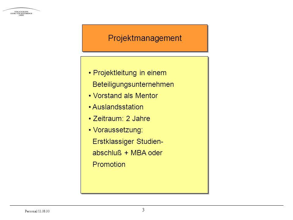 Projektmanagement Projektleitung in einem Beteiligungsunternehmen