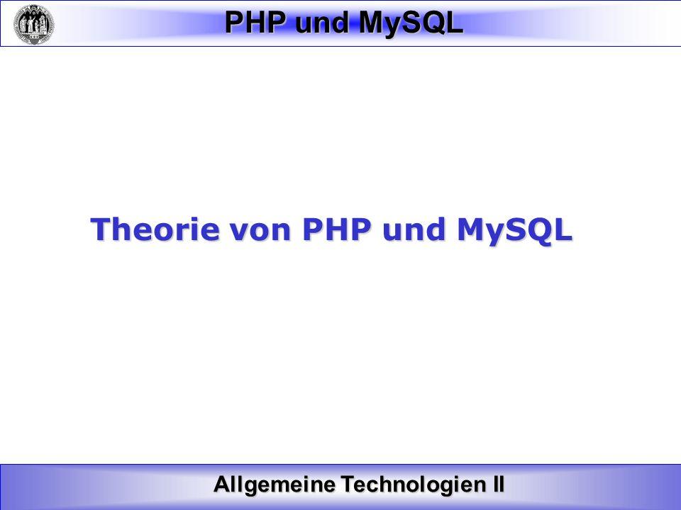 Theorie von PHP und MySQL