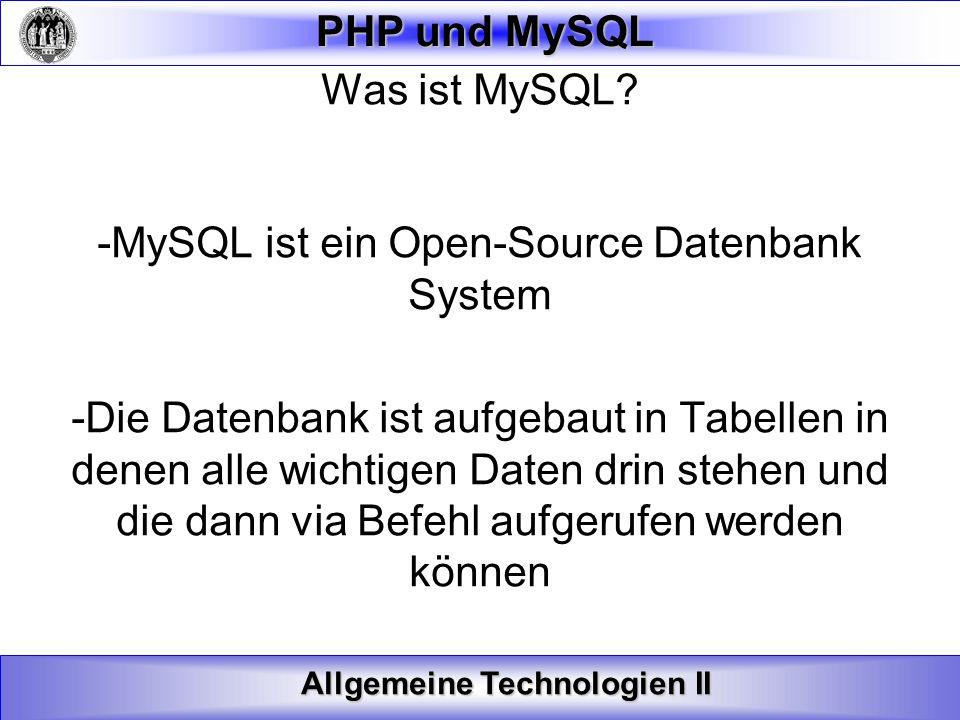-MySQL ist ein Open-Source Datenbank System