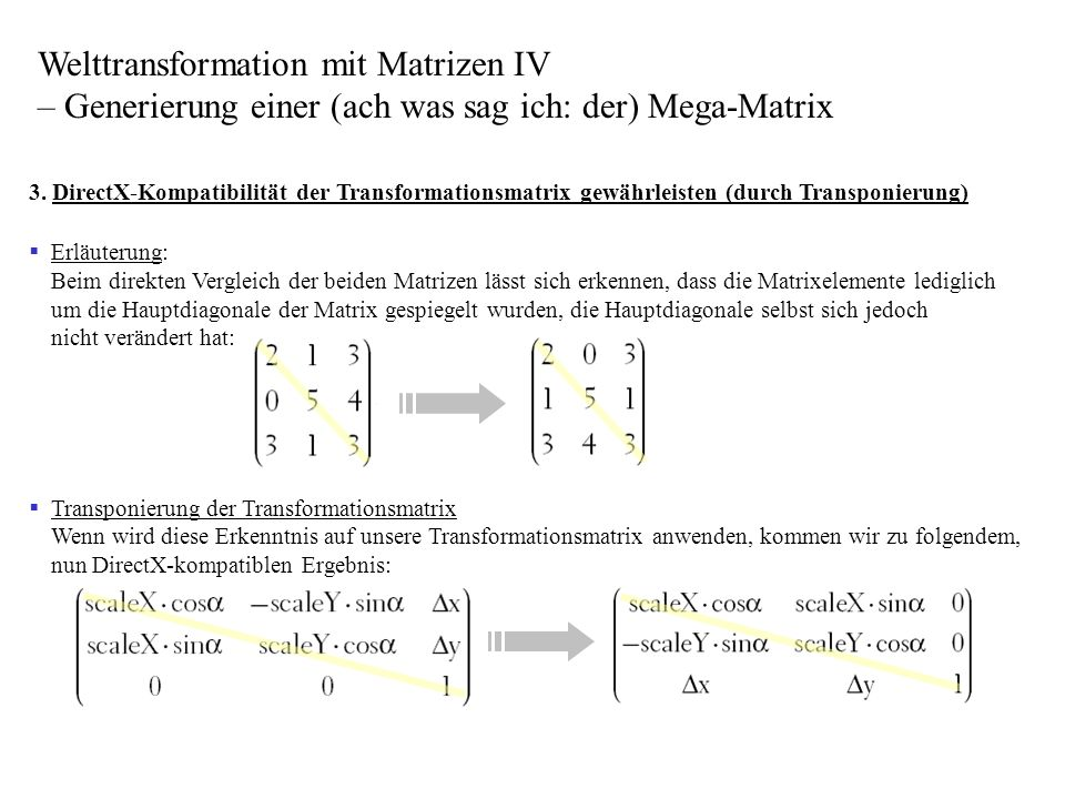 Welttransformation mit Matrizen IV – Generierung einer (ach was sag ich: der) Mega-Matrix