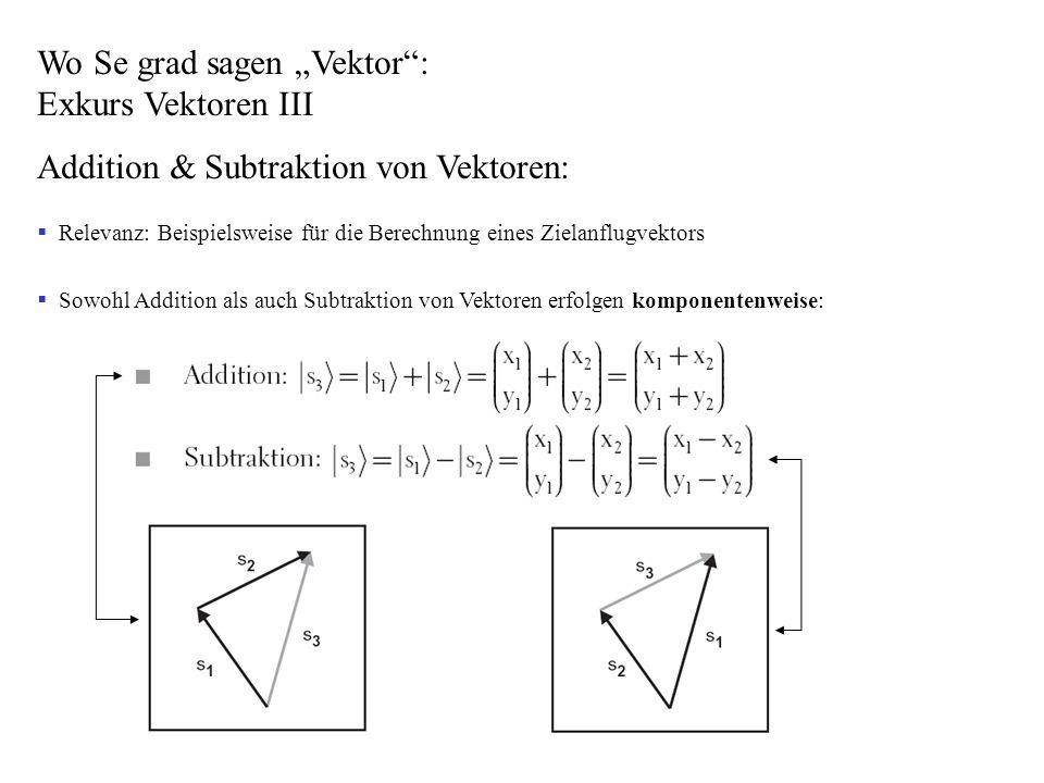 """Wo Se grad sagen """"Vektor : Exkurs Vektoren III"""