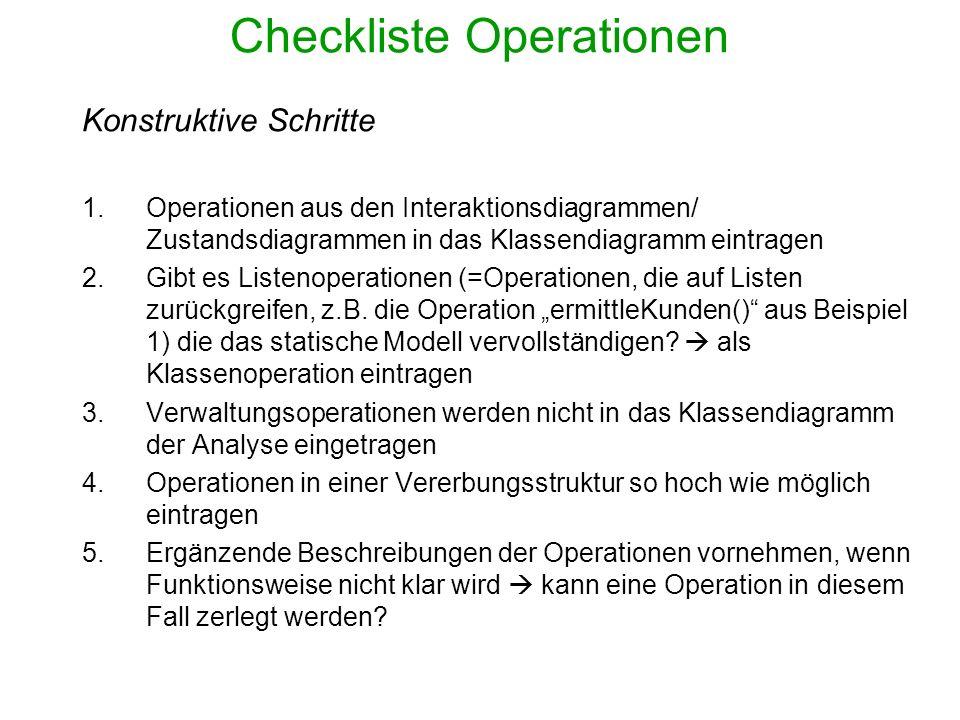 Checkliste Operationen