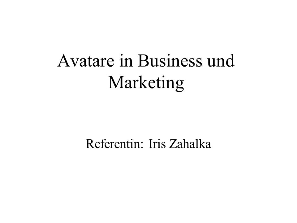 Avatare in Business und Marketing