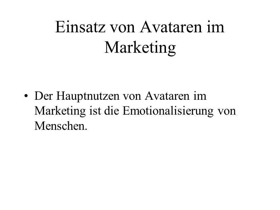 Einsatz von Avataren im Marketing