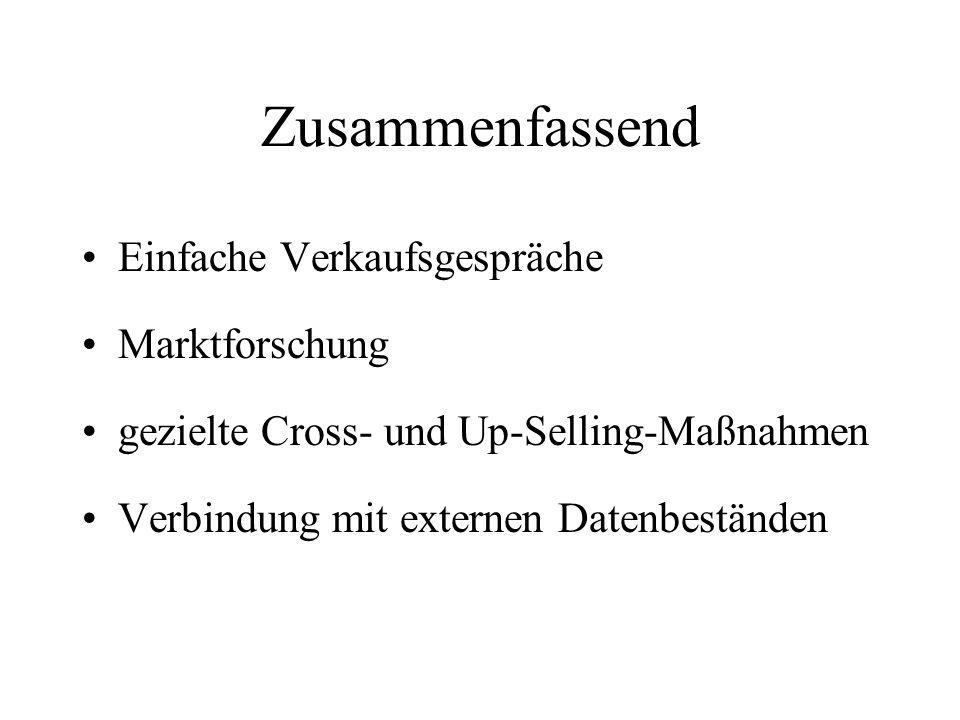 Zusammenfassend Einfache Verkaufsgespräche Marktforschung