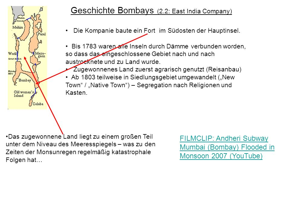 Geschichte Bombays (2.2: East India Company)