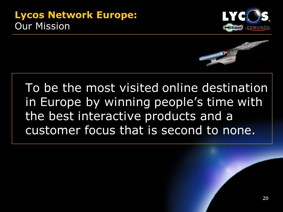 Lycos Network Europe: Our Mission