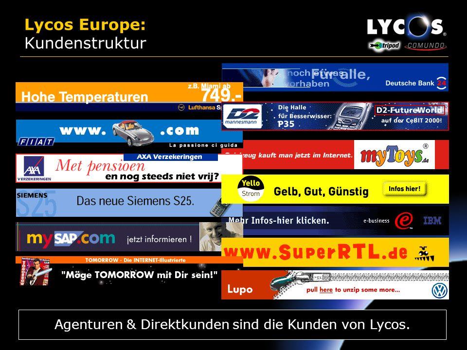 Lycos Europe: Kundenstruktur