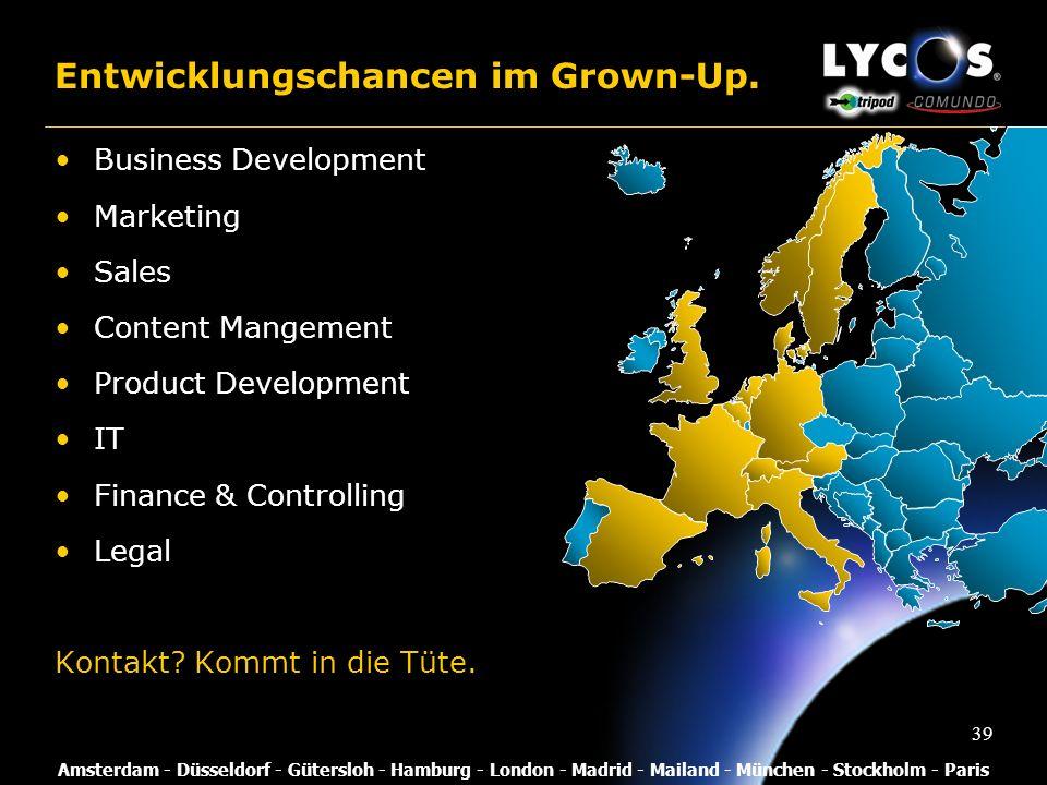 Entwicklungschancen im Grown-Up.