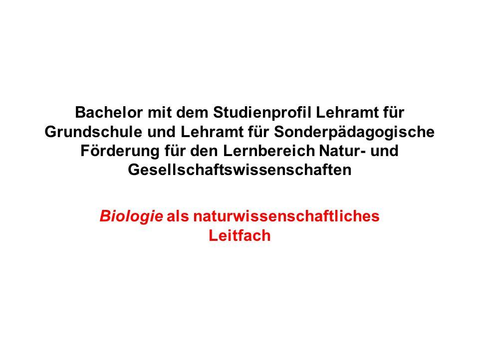 Biologie als naturwissenschaftliches Leitfach