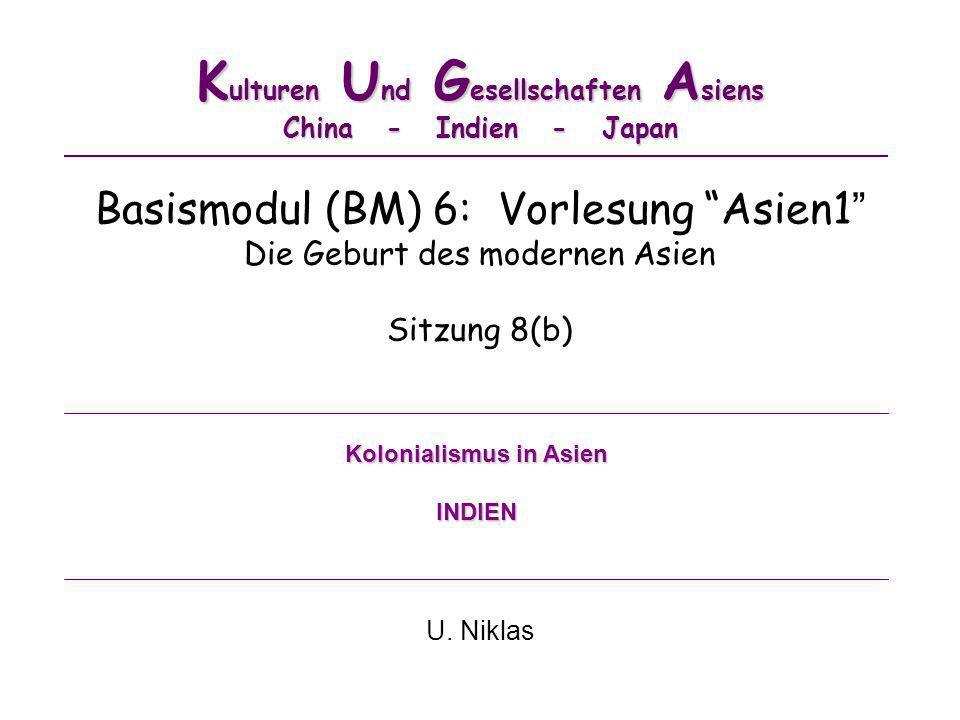 Kulturen Und Gesellschaften Asiens China - Indien - Japan
