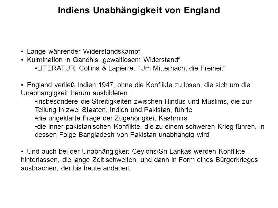 Indiens Unabhängigkeit von England
