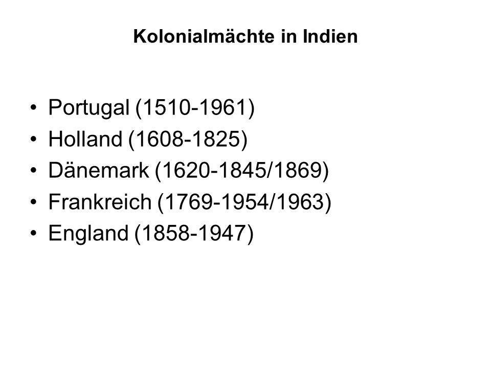 Kolonialmächte in Indien