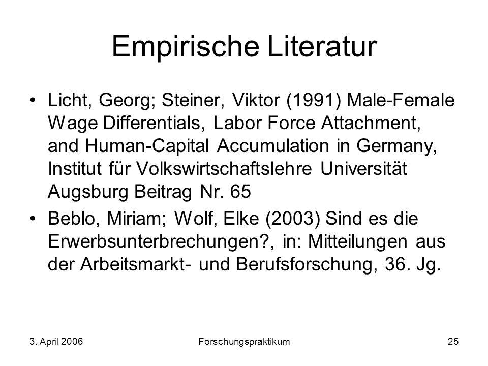Empirische Literatur