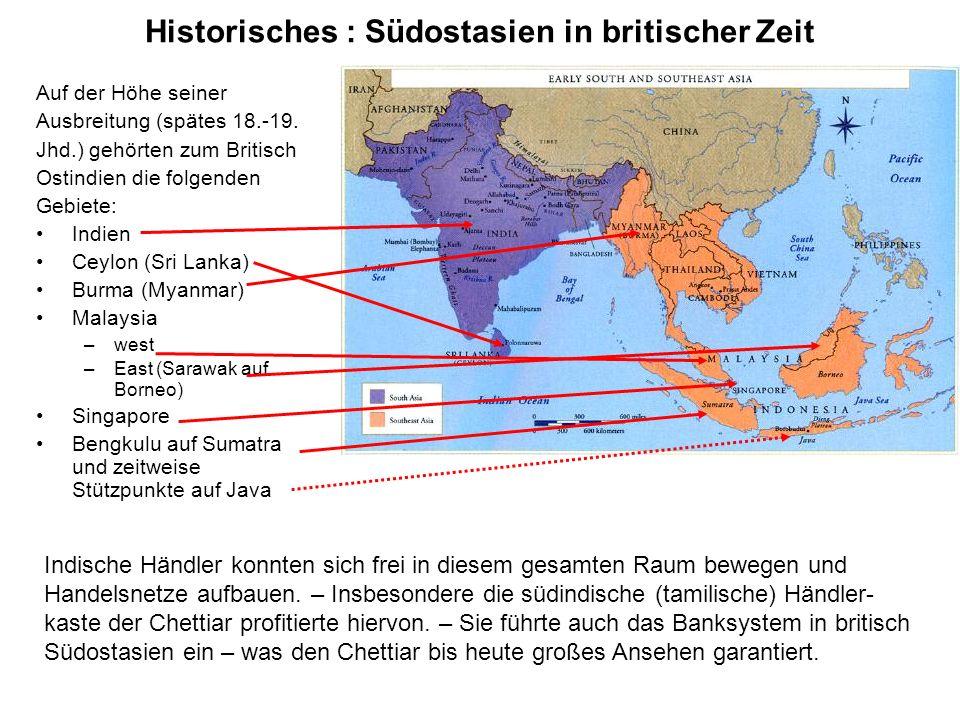 Historisches : Südostasien in britischer Zeit
