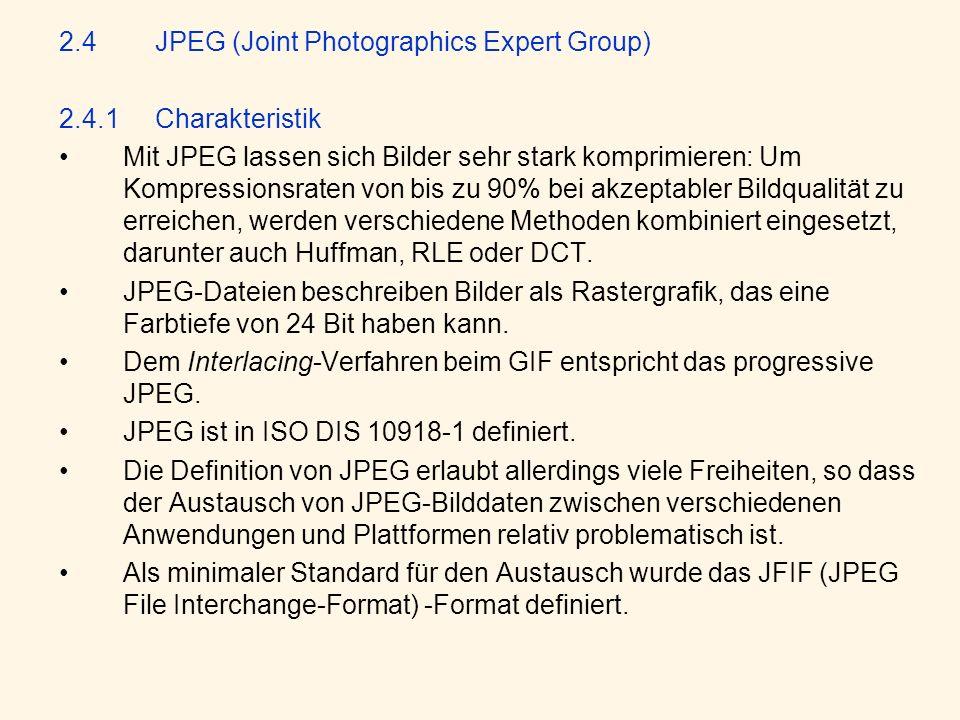 2.4 JPEG (Joint Photographics Expert Group)