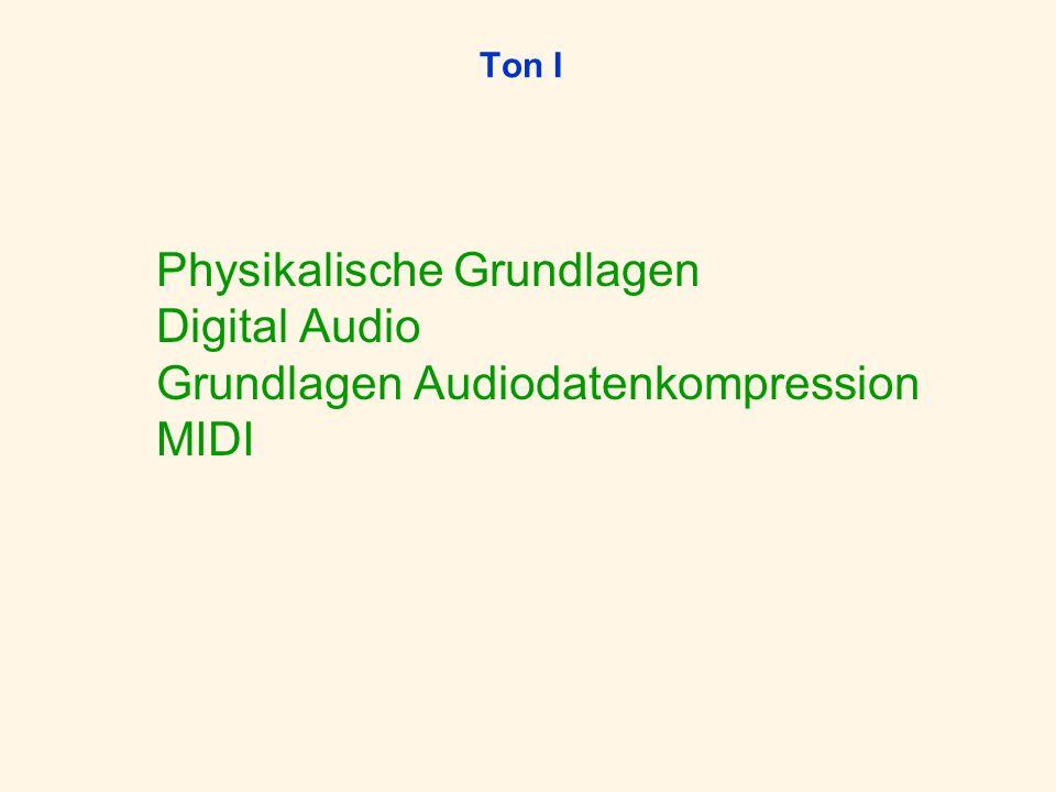 Physikalische Grundlagen Digital Audio