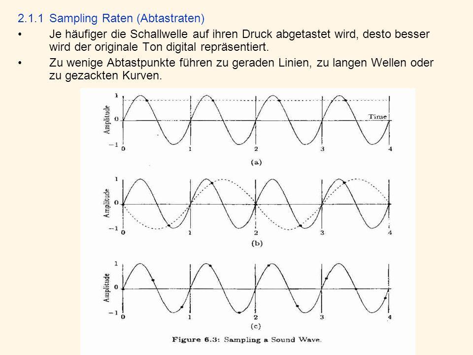 2.1.1 Sampling Raten (Abtastraten)