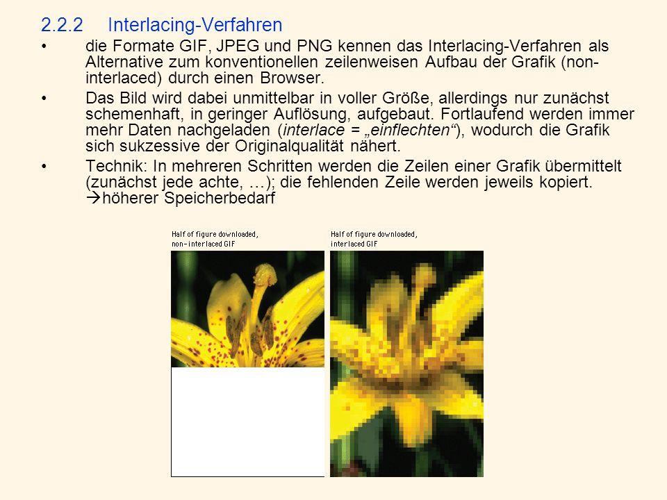 2.2.2 Interlacing-Verfahren