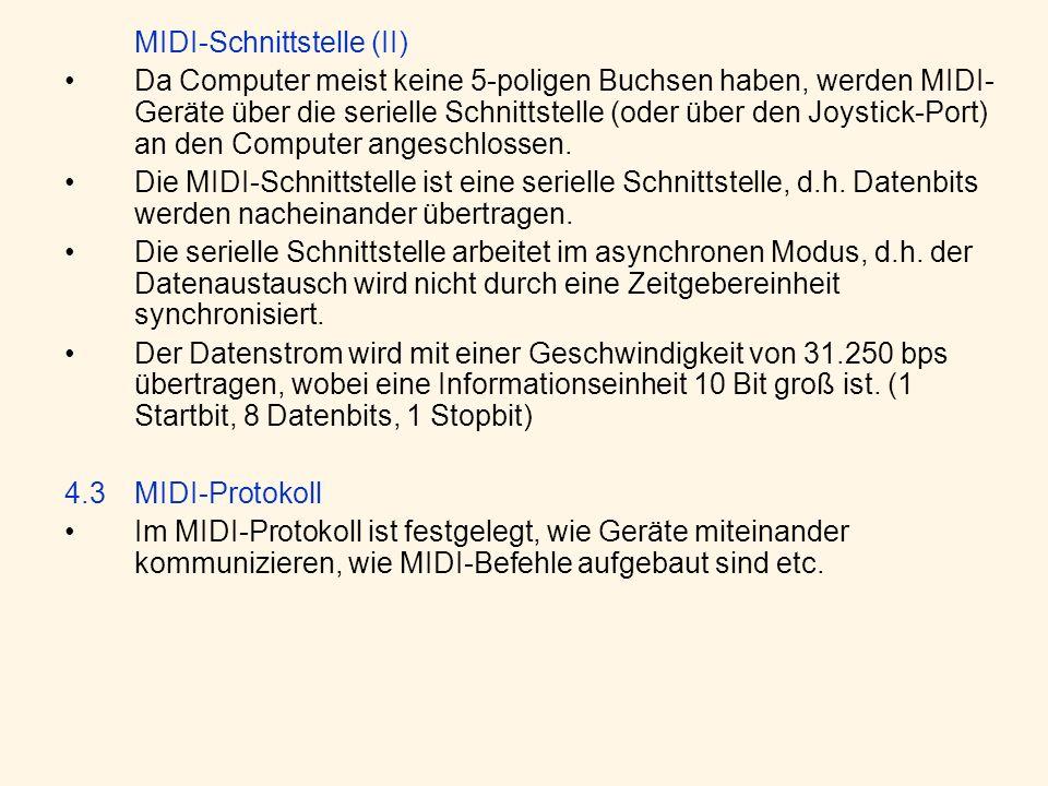 MIDI-Schnittstelle (II)