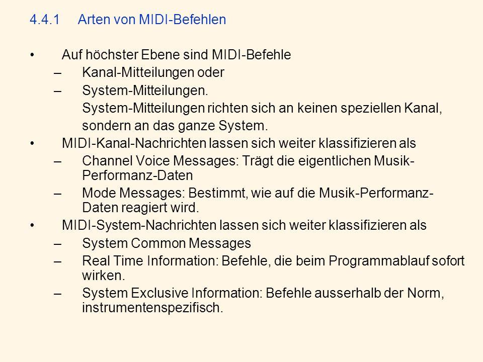 4.4.1 Arten von MIDI-Befehlen