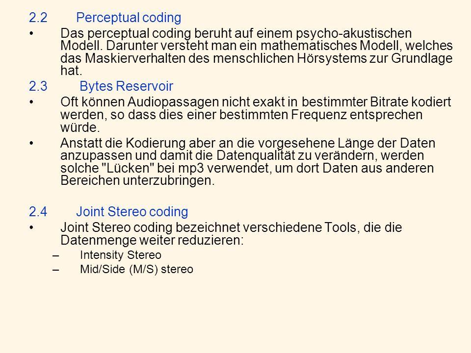 2.2 Perceptual coding