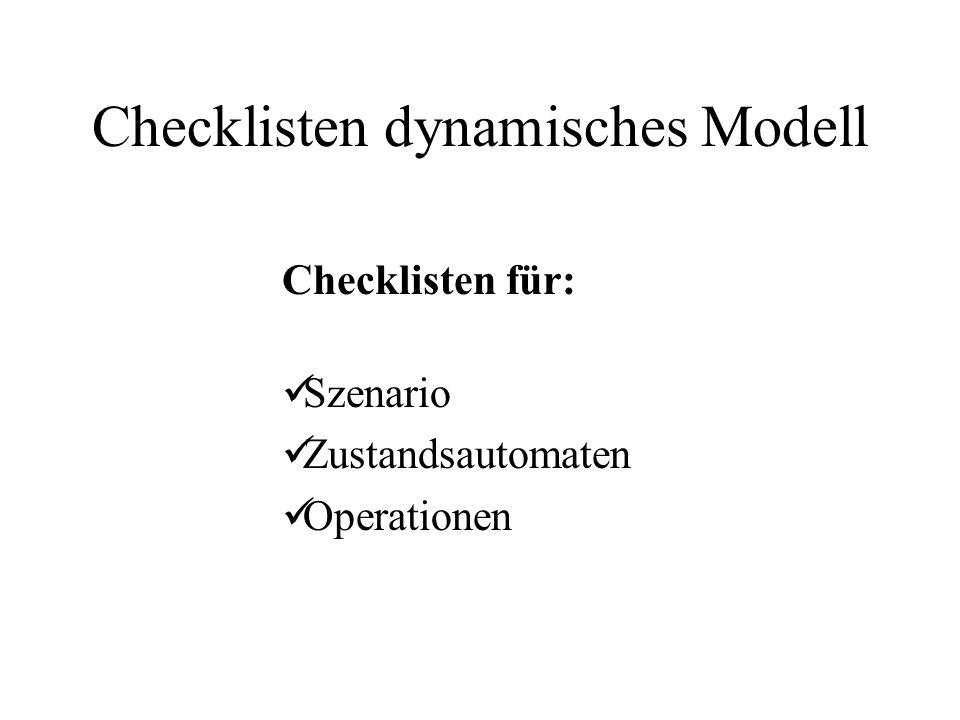 Checklisten dynamisches Modell