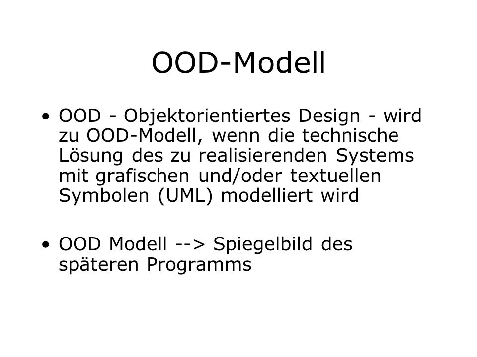 OOD-Modell