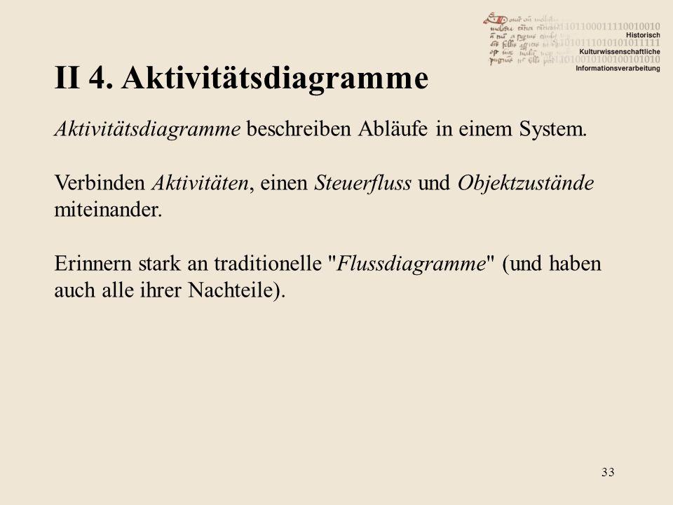 II 4. Aktivitätsdiagramme
