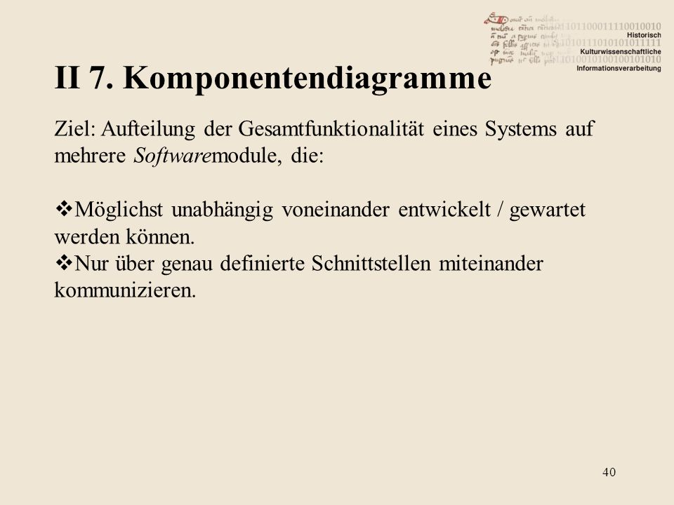 II 7. Komponentendiagramme