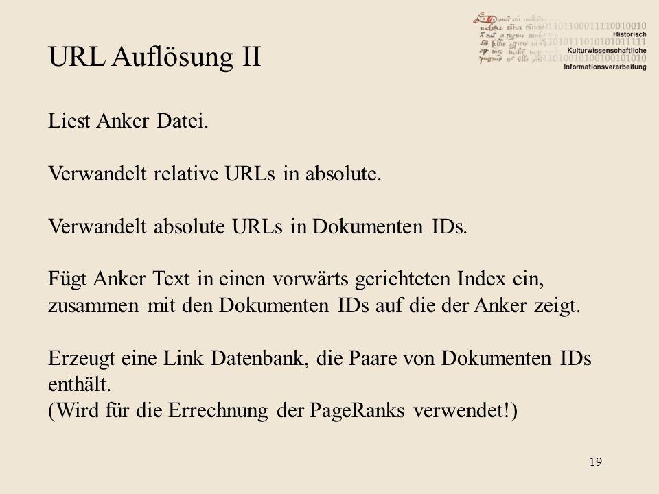 URL Auflösung II Liest Anker Datei.