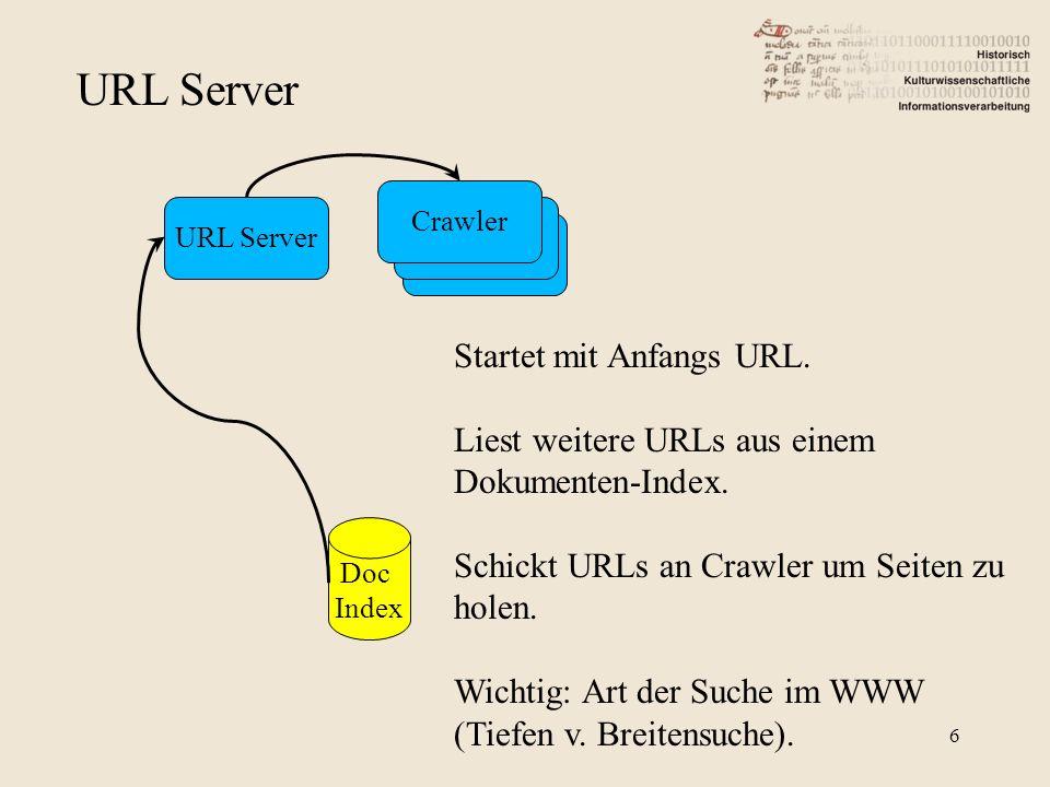 URL Server Startet mit Anfangs URL.