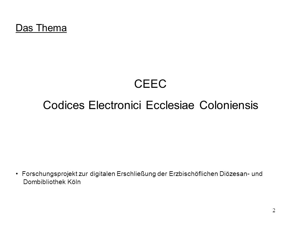 Codices Electronici Ecclesiae Coloniensis