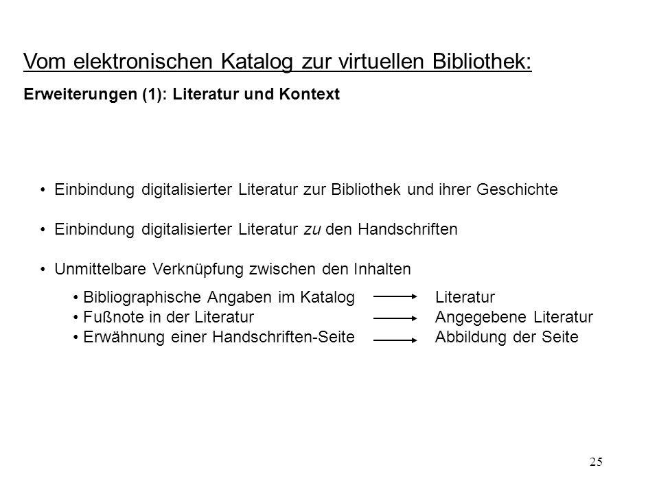 Vom elektronischen Katalog zur virtuellen Bibliothek: