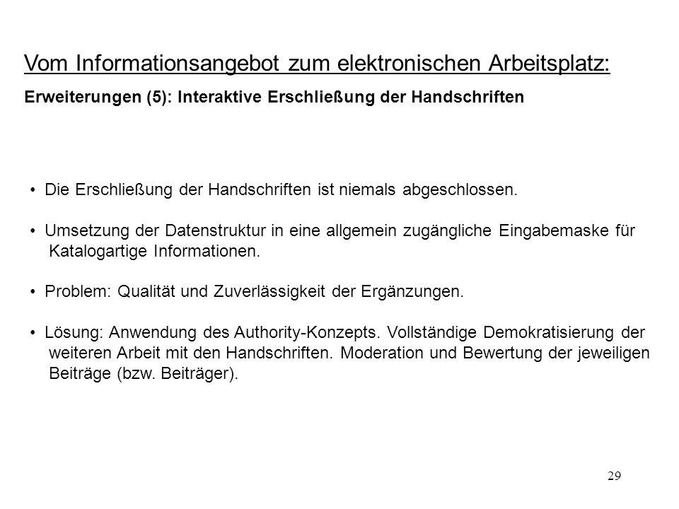Vom Informationsangebot zum elektronischen Arbeitsplatz: