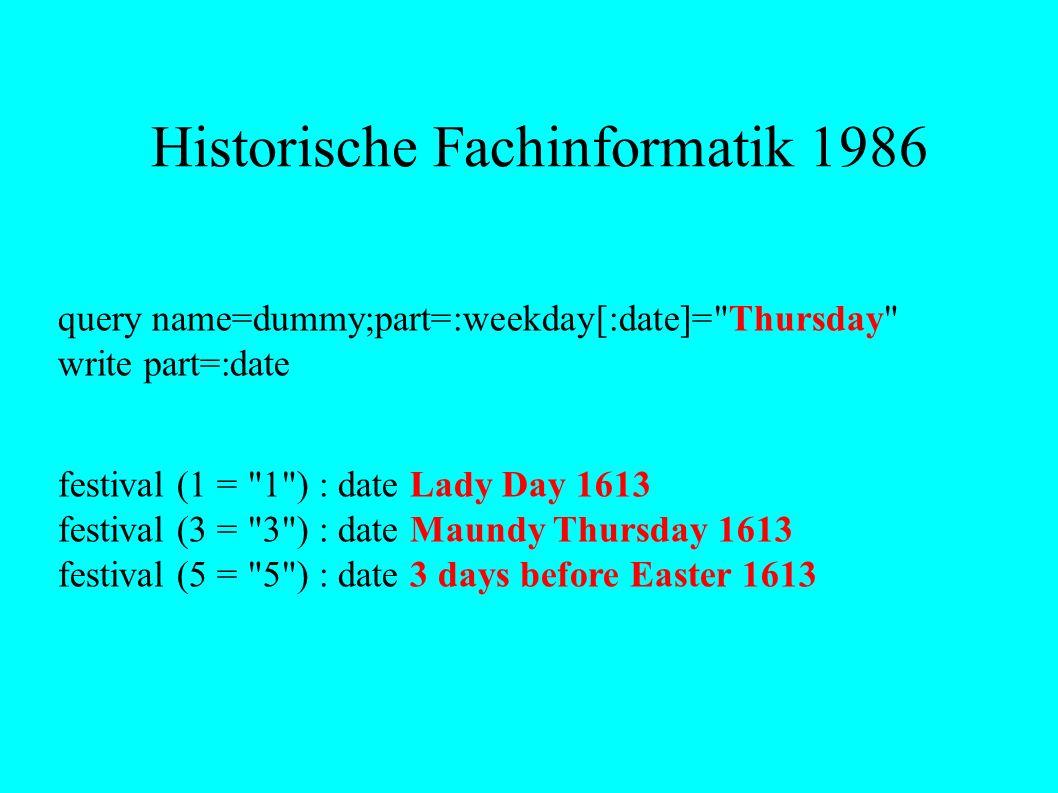 Historische Fachinformatik 1986