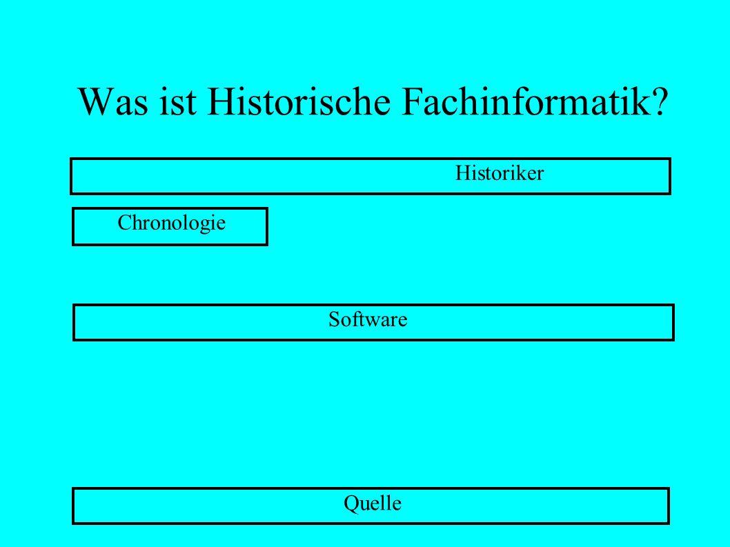 Was ist Historische Fachinformatik